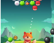 Bubble shooter pop Garfield HTML5 játék