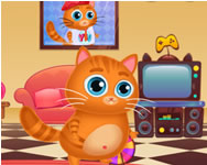 Lovely virtual cat Garfield HTML5 játék