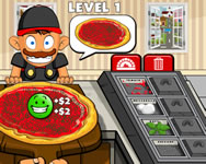 Pizza party Garfield HTML5 játék